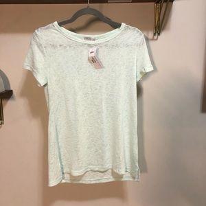 Mint green t-shirt (sheer/textured)